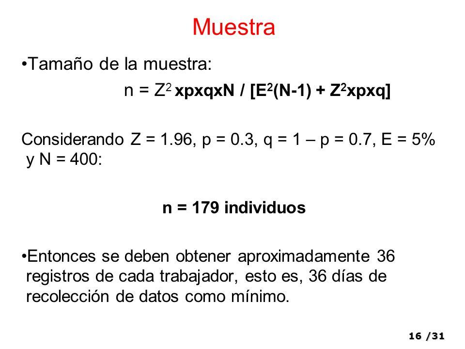 n = Z2 xpxqxN / [E2(N-1) + Z2xpxq]